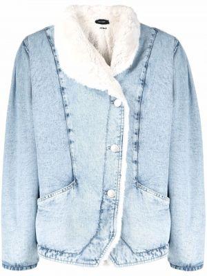 Хлопковая джинсовая куртка - синяя Isabel Marant