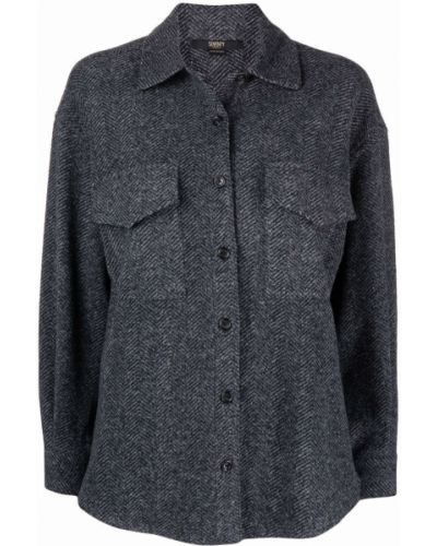 Шерстяная рубашка - серая Seventy