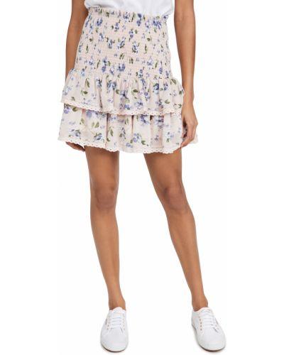 Шифоновая юбка на резинке с кокеткой English Factory