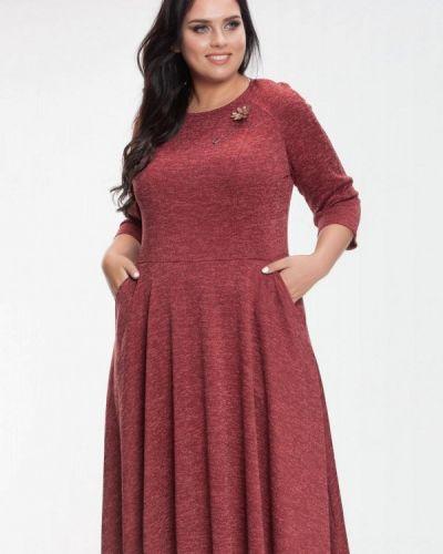 Повседневное красное платье Prima Linea