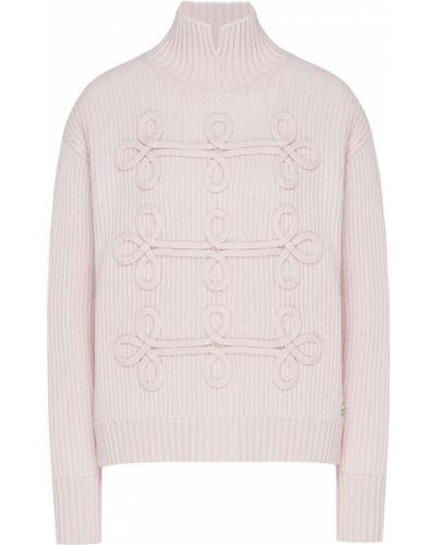 Свитер светло-розовый в рубчик Karl Lagerfeld