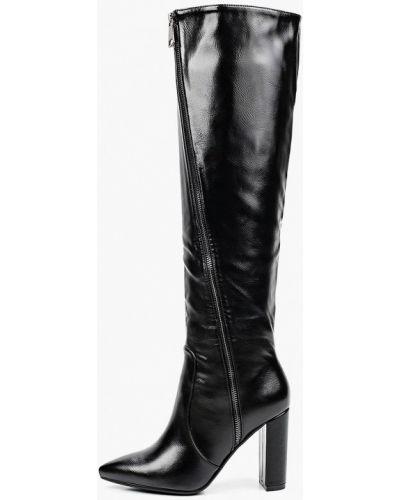 Черные кожаные ботфорты Marco Bonne