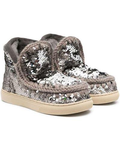 Шерстяные серебряные ботинки Mou Kids