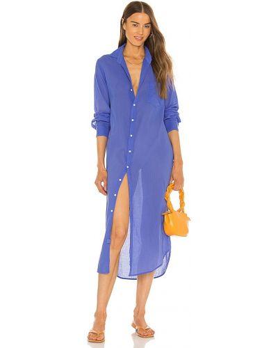 Платье макси длинное - синее Frank & Eileen