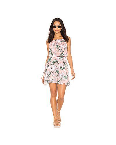 Платье с поясом розовое на бретелях Seafolly