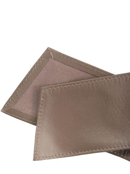 Бежевый кожаный широкий ремень свободного кроя с поясом Malo