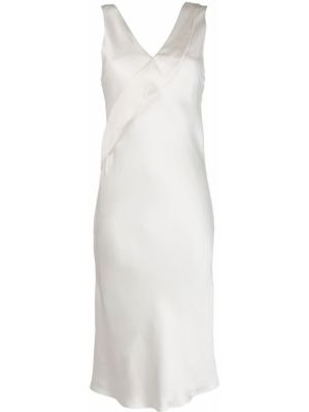 Платье миди с открытой спиной на бретелях Helmut Lang