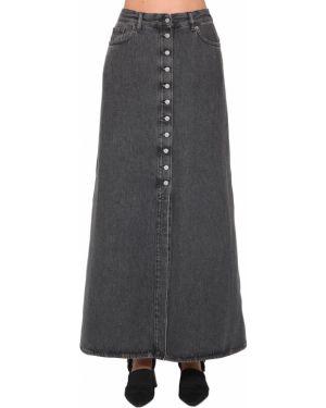 Джинсовая юбка с разрезом сзади с карманами Mm6 Maison Margiela