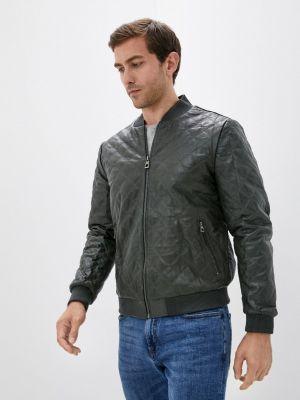 Кожаная куртка - хаки Basics & More