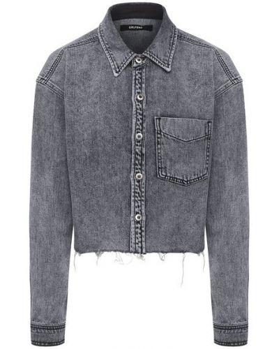 Хлопковая серая блузка Grlfrnd