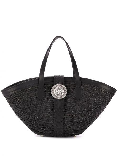 Кожаная сумка соломенная пляжная Kate Cate