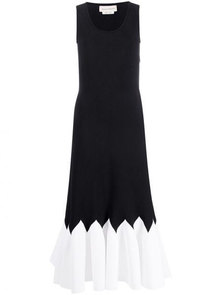 Платье плиссированное со складками Alexander Mcqueen