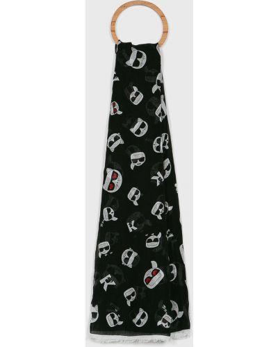Шарф шелковый с узором Karl Lagerfeld