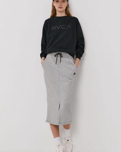 Szara spódnica midi dzianinowa na co dzień Nike Sportswear