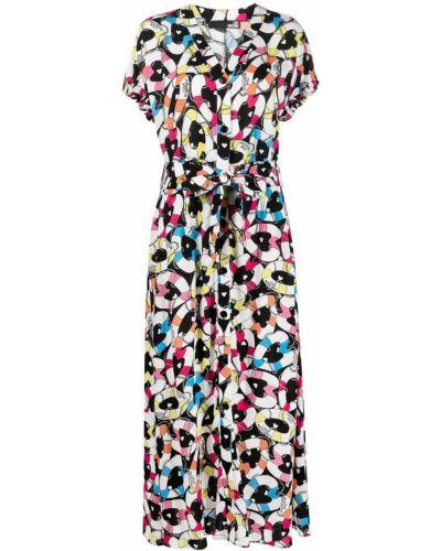 Черное платье мини с короткими рукавами с вырезом Love Moschino