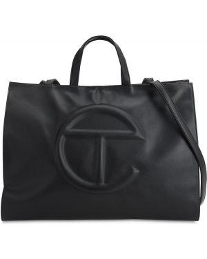 Czarna torebka skórzana oversize Telfar