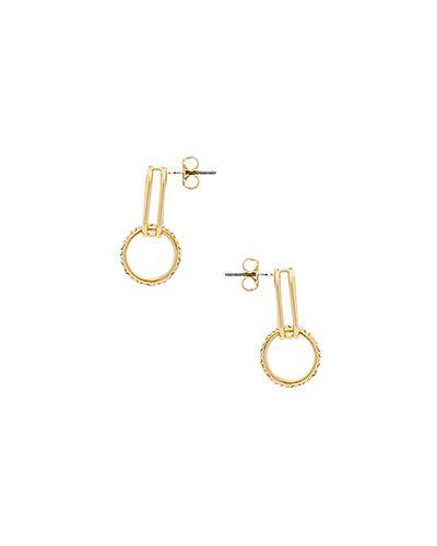 Золотые серьги позолоченные металлические Rebecca Minkoff