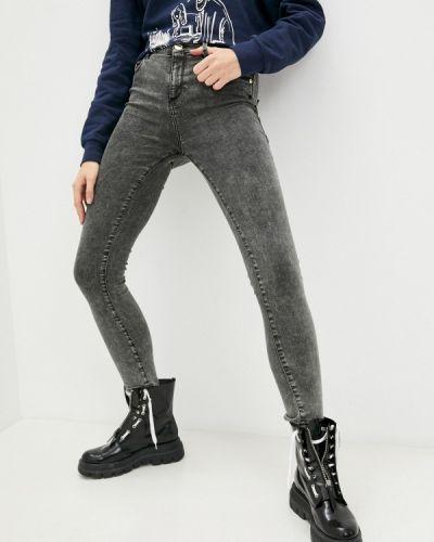 Серые зимние зауженные джинсы Trussardi