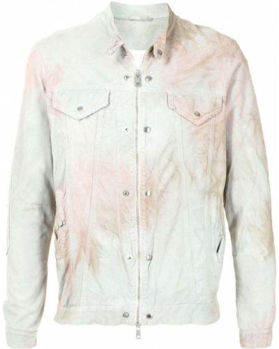 Biała koszula z długimi rękawami skórzana Giorgio Brato