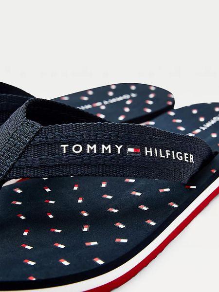 Синие шлепанцы Tommy Hilfiger