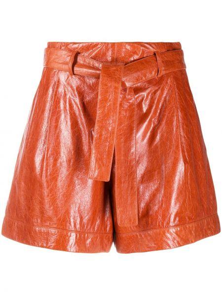 Коричневые шорты с карманами из вискозы Drome