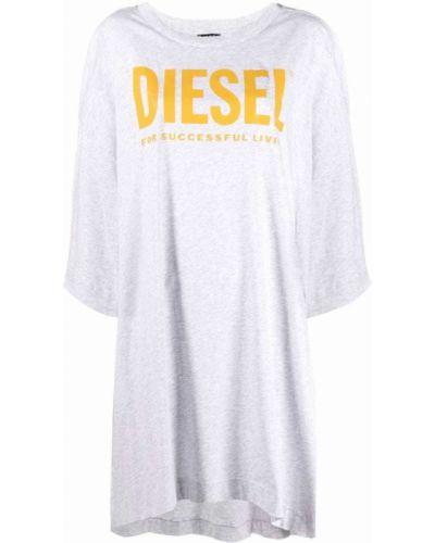 Серое платье оверсайз Diesel
