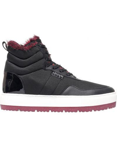 Кожаные ботинки осенние Armani Jeans