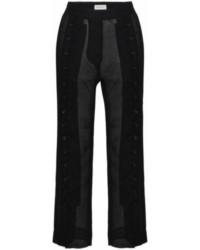 Черные укороченные брюки с поясом Beau Souci
