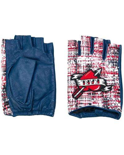 Кожаные перчатки хлопковые Karl Lagerfeld
