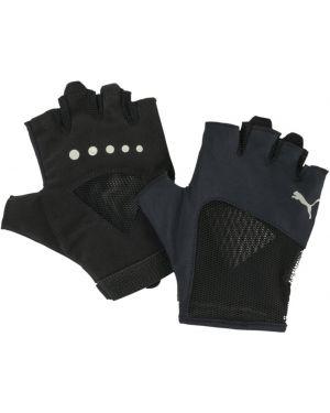 Перчатки замшевые черные Puma