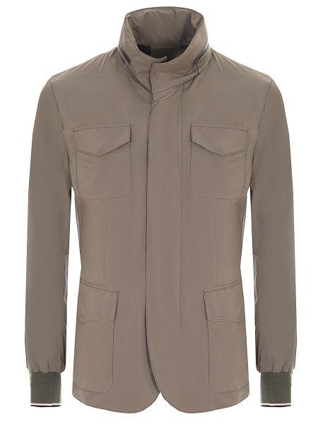 Куртка на молнии с манжетами с карманами с воротником Montecore