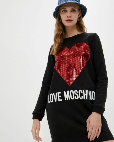 Платье - черное Love Moschino