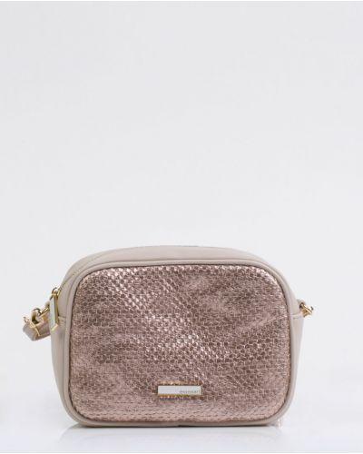 Кожаная сумка через плечо - розовая Monnari