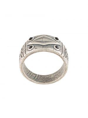 С ониксом серебряное кольцо свободного кроя Nialaya Jewelry