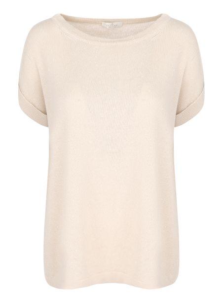 Хлопковая футбольная базовая футболка с круглым вырезом Panicale