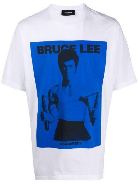 Koszula krótkie z krótkim rękawem z nadrukiem Dsquared2