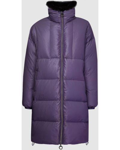 Пуховик с мехом - фиолетовый Florence Mode