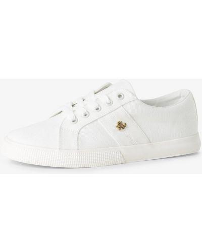 Białe tenisówki eleganckie Lauren Ralph Lauren