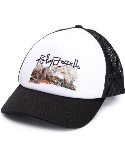 Bawełna bawełna biały czapka z daszkiem siatkowaty Palm Angels