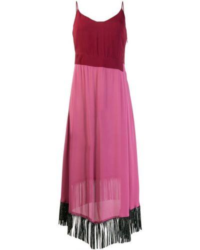 Платье розовое на бретелях Just Cavalli