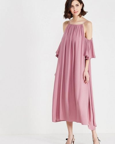 Платье миди осеннее фиолетовый Èssmy