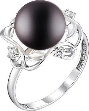 Кольцо с жемчугом черный De Fleur