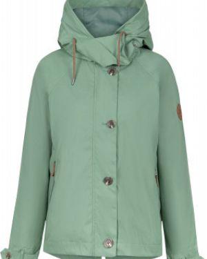 Зеленая свободная нейлоновая куртка с капюшоном на молнии Outventure