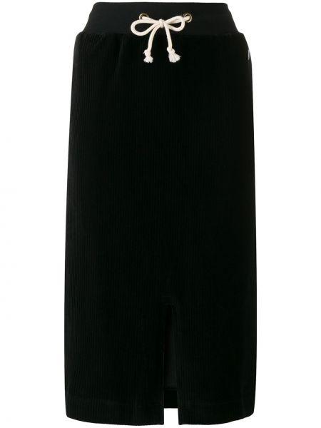 Черная юбка миди с разрезом с поясом Champion