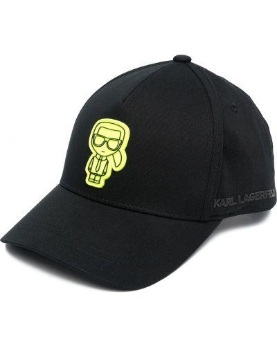 Bawełna czarny bawełna czapka baseballowa Karl Lagerfeld