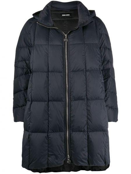 С рукавами черное стеганое пальто с воротником на молнии Ienki Ienki