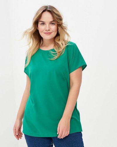 Блузка зеленый весенний Leshar
