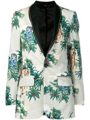 Шелковый пиджак с карманами на пуговицах R13