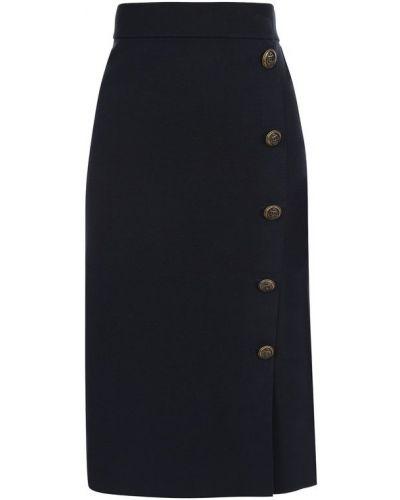 Юбка миди на пуговицах из вискозы Polo Ralph Lauren