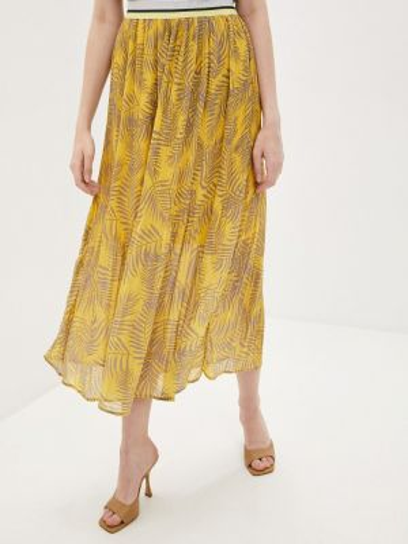Плиссированная юбка осенняя желтый Sweewe